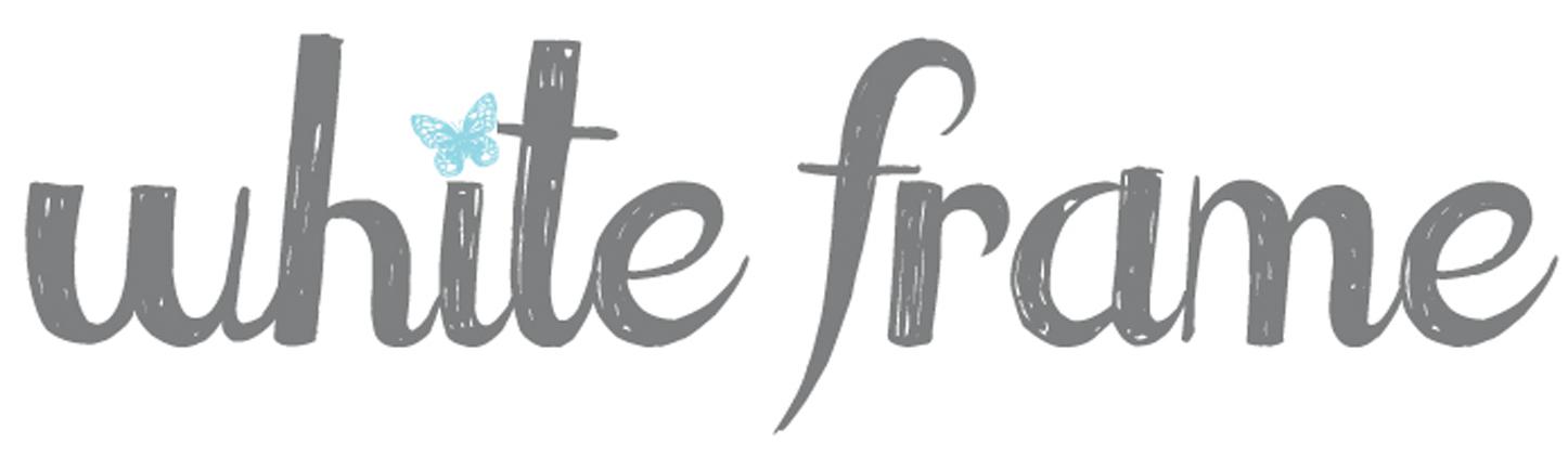 white frame logo